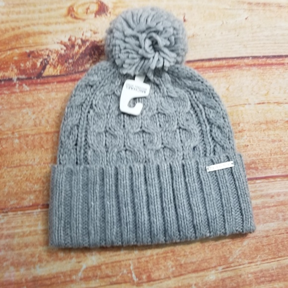 4dbee86fa Michael Kors Cable Knit Cuff Gray Hat NWT NWT